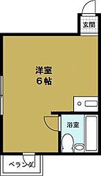 JPアパートメント港4[301号室]の間取り