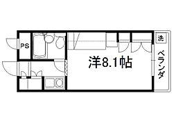セレーネ田辺4[3階]の間取り