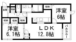 メゾンユタカII[0100号室]の間取り