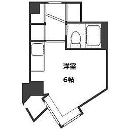 クリオ円山公園壱番館[609号室]の間取り