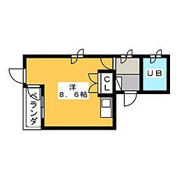 プルミエ静岡パート1[4階]の間取り