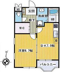 レジデンスK1[1階]の間取り