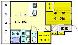 グラシア和白壱番館[1階]の間取り