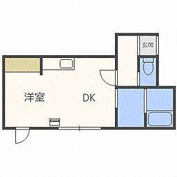 クレステージ清田[2階]の間取り