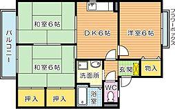 セジュール鴨生田 C棟[2階]の間取り