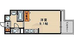 エスティライフ大阪都島 6階ワンルームの間取り