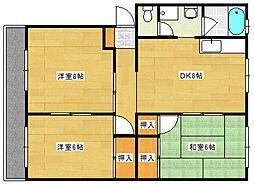 土屋マンション[2階]の間取り