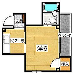サンモリッツII[1階]の間取り