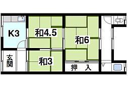 [テラスハウス] 奈良県奈良市大安寺3丁目 の賃貸【/】の間取り