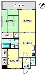 パールシャトー藤江駅前[3階]の間取り