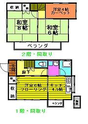 [一戸建] 東京都八王子市元八王子町2丁目 の賃貸【/】の間取り