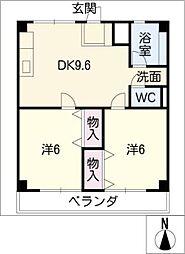津IN COURT練木ノースコート[4階]の間取り