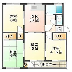 東垂水住宅2号棟[3階]の間取り