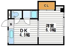 マンション藤[2階]の間取り