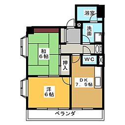 グリーンクレスト杁中 N棟[2階]の間取り