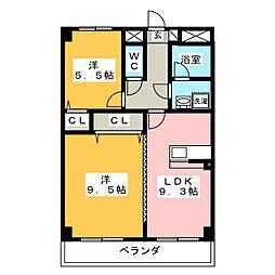 ソレーユ岡崎[3階]の間取り