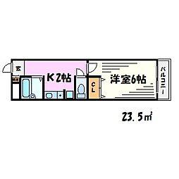 レーヴメゾン[1階]の間取り