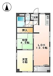 コ−ポ鈴木[2階]の間取り