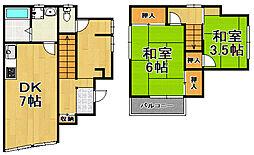 [一戸建] 兵庫県川西市東多田2丁目 の賃貸【/】の間取り
