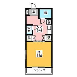 清水第2マンション[4階]の間取り