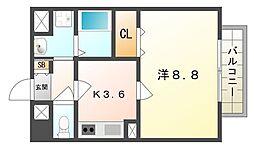 アムール砂3[2階]の間取り