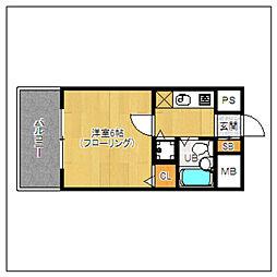 ピュアドームリアラ大濠[1階]の間取り