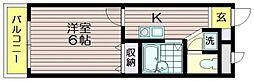 東京都三鷹市北野1の賃貸マンションの間取り