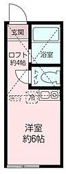 ユナイト田浦マルコ・ルッキネリ[201号室]の間取り