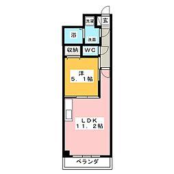 アルファレガロ西古松[12階]の間取り