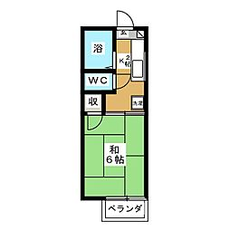 Jハイツ中倉[1階]の間取り