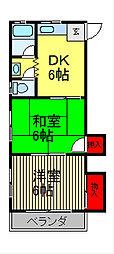 永井マンション[3階]の間取り
