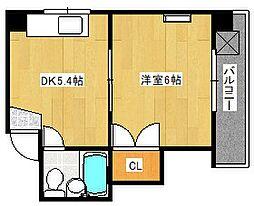 第2下野ビル(元・第6片山ビル)[501号室]の間取り