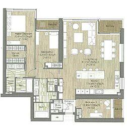 東京メトロ日比谷線 六本木駅 徒歩8分の賃貸マンション 2階3LDKの間取り