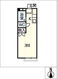ニューカーサI[2階]の間取り
