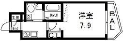 セレニテ高井田[605号室号室]の間取り