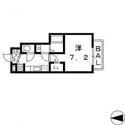 ラ・フォーレ長田[102号室号室]の間取り