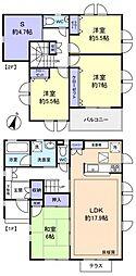 [一戸建] 千葉県船橋市高根台3丁目 の賃貸【/】の間取り
