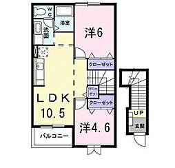 サンヒルズY・K[2階]の間取り