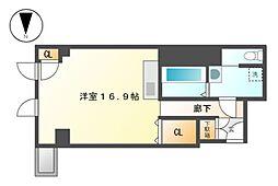 KAKOビル(居住用)[4階]の間取り
