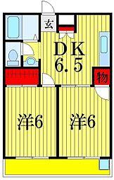 サンハイツ長島[2階]の間取り
