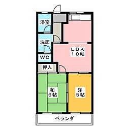 元町ハウスやかた[1階]の間取り