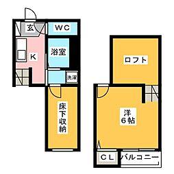 ベネフィスタウン箱崎東III[1階]の間取り