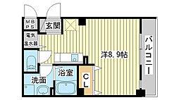 サクシード姫路駅南[202号室]の間取り