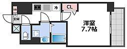 エグゼ堺筋本町 12階1Kの間取り