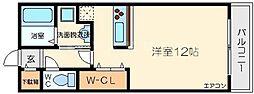 クレール豊里[2階]の間取り