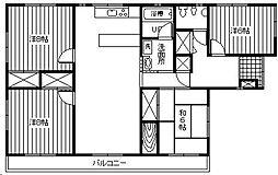 上村アパート[3F号室]の間取り