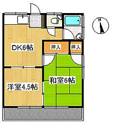 桃江荘[2階]の間取り