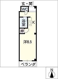 エストゥディオM A棟[2階]の間取り