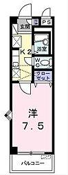 福岡県北九州市八幡西区熊西2丁目の賃貸アパートの間取り