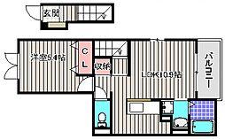 テオリア[2階]の間取り